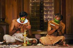 Kathakali actors make-up Stock Photos
