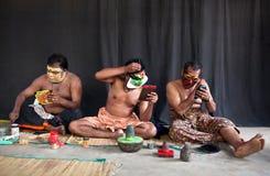 Kathakali actors make-up Royalty Free Stock Photo