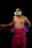 Kathakali actors make-up Royalty Free Stock Photos