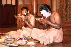 Kathakali actors make-up , India stock photos