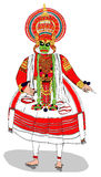 Kathakali artist Performing Royalty Free Stock Photos