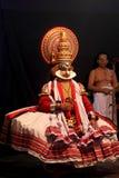 Kathakali artists perform on stage Royalty Free Stock Photos