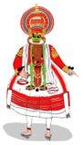 Kathakali artysty spełnianie Zdjęcia Royalty Free