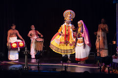 Kathakali, ballo-dramma indiano del sud classico Fotografie Stock
