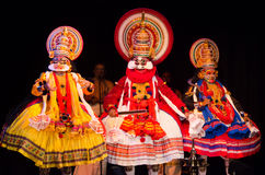Kathakali, ballo-dramma indiano del sud classico fotografia stock