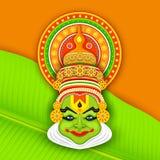 Kathakali colorido hace frente Imagen de archivo libre de regalías