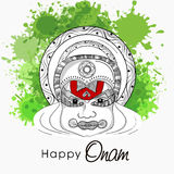 Kathakali dancer face for Happy Onam. Royalty Free Stock Image