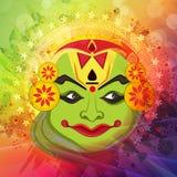 Kathakali dancer face for Happy Onam celebration. Royalty Free Stock Image