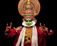 Kathakali dancer, India Royalty Free Stock Photos