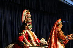 Kathakali Dancer pair Royalty Free Stock Images