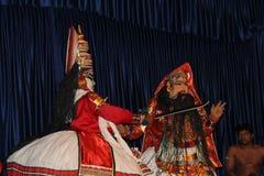 Kathakali Dancers Royalty Free Stock Images