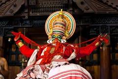 Kathakali dans i fortet Cochin, Kerala, Indien Arkivfoton
