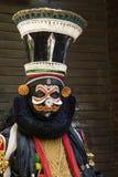 Kathakali dansare Kathakali dansshow på Boris Garden Sofia i Bulgarien royaltyfria bilder