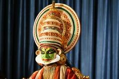 Kathakali, danza india clásica de Kerala imagenes de archivo