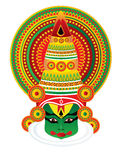 Kathakali face isolated Royalty Free Stock Photos
