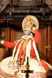 Kathakali Ja był ciekawym początkowym częścią faktyczna sztuka Zdjęcie Stock
