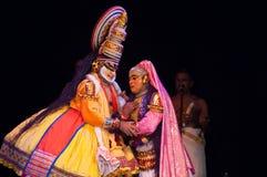 Kathakali, klassiek Zuiden Indisch dans-drama Stock Fotografie