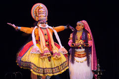Kathakali, klassiek Zuiden Indisch dans-drama royalty-vrije stock afbeeldingen