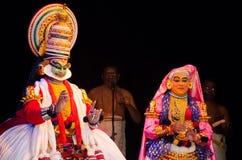 Kathakali, klassiek Zuiden Indisch dans-drama Stock Afbeelding