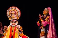 Kathakali, klassiek Zuiden Indisch dans-drama Stock Foto