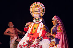 Kathakali, klassiek Zuiden Indisch dans-drama Royalty-vrije Stock Foto