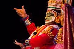 Kathakali klassisk södra indisk dans-drama Arkivfoto