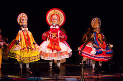 Kathakali klassisk södra indisk dans-drama Arkivbild