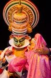 Kathakali, klasyczny Południowy Indiański dramat Zdjęcia Stock