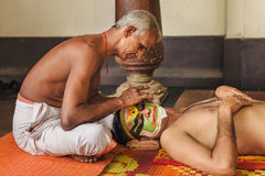 Kathakali makeup Fotografia Royalty Free
