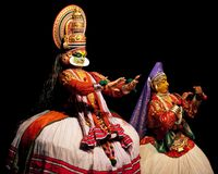 Kathakali performer Royalty Free Stock Photo