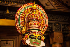 Kathakali performer applying face make-up Royalty Free Stock Image