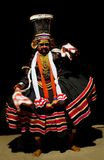Kathakali performer in the negative role Royalty Free Stock Photography