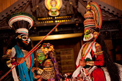 Kathakali performers Royalty Free Stock Images