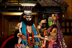Kathakali performers royalty free stock photos