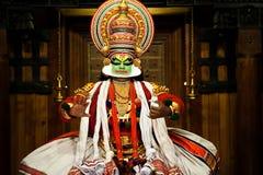 Kathakali przedstawienie Zdjęcia Royalty Free