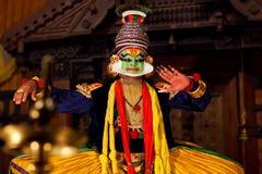 Kathakali przedstawienie w Kerala, India Obrazy Royalty Free