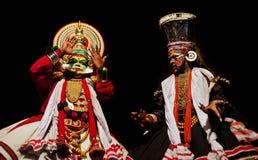 Kathakali show stock photography
