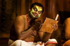 Kathakali-Show Stockbild