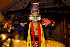 Kathakali Show in Kerala, India Royalty Free Stock Images