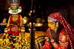 Kathakali Show in Kerala, India Royalty Free Stock Photography