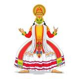 Kathakali tancerz ilustracji