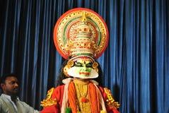 Kathakali tancerza wyrażenia Fotografia Royalty Free