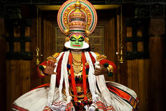 Kathakali toont Royalty-vrije Stock Foto's