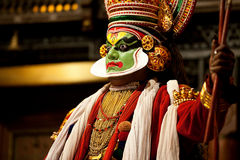 Kathakali toont Royalty-vrije Stock Afbeelding