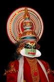 Kathakali tradional dance actor. On black Royalty Free Stock Photography