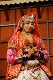 Kathakali tradional dance actor. Kochi (Cochin), India Royalty Free Stock Photography