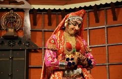 Kathakali tradional dance actor. Kochi (Cochin), India Royalty Free Stock Photo