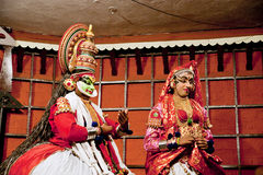 Kathakali tradional dance actor. Kochi (Cochin), India Royalty Free Stock Photos