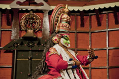 Kathakali tradional dance actor. Kochi (Cochin), India Royalty Free Stock Images
