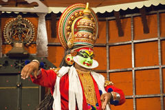 Kathakali tradional dance actor. Kochi (Cochin), India Royalty Free Stock Image